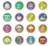 Winter icon set Royalty Free Stock Photo