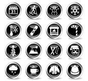 Winter icon set Stock Images