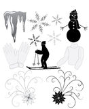 Winter Icons Royalty Free Stock Photo