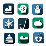 Winter icons Royalty Free Stock Image