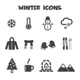 Winter icons Stock Image