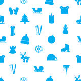 Winter icons pattern eps10 Stock Photography
