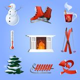 Winter Icons Set Royalty Free Stock Images