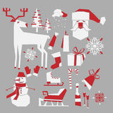 Winter icons Stock Photos