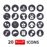 Winter icons set Stock Photos