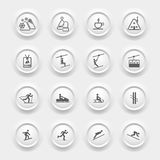 Winter Icons Set - Ski sport Stock Photography