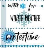 Winter icons Royalty Free Stock Photos