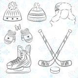 Winter icons Stock Image