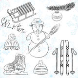 Winter icons2 Royalty Free Stock Image