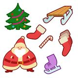 Winter icons Royalty Free Stock Images