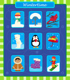 Winter Icons Royalty Free Stock Photography