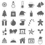 Winter icons on white background Stock Image