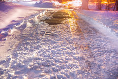 Winter Icy Road Royalty Free Stock Images