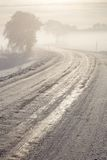 Winter icy road royalty free stock photo
