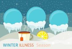 Winter Illness Season People Design Royalty Free Stock Images