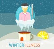 Winter Illness Season People Design Royalty Free Stock Photos