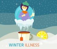 Winter Illness Season People Design Stock Photos