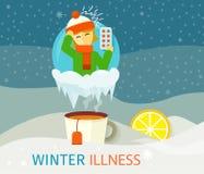 Winter Illness Season People Design Royalty Free Stock Photo