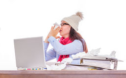 Winter illness Royalty Free Stock Photo