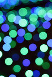 Winter Illumination Blue LED light blurs Royalty Free Stock Image