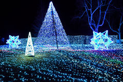 Winter Illumination with blue LED lights Japan. Winter Illumination with millions of blue LED lights in Japan Stock Image