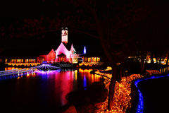 Winter illumination in Mie, Japan. Mie, Japan - March 4, 2015: Nabana no sato winter illumination in Mie province is one of Japan's largest illumination parks Royalty Free Stock Image