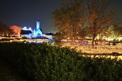Winter Illumination show in Nabana no Sato garden,. Winter Illumination show in Nabana no Sato garden, Mie,Japan stock images