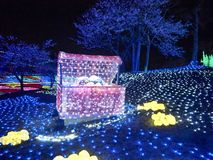 Winter Illuminations Dream - Treasure Box. Tokyo German Village situated in Chiba Prefecture in Japan is one of famous flower parks in which they have fabulous royalty free stock photo