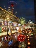 Winter Illuminations in Korakuen. Tokyo Dome in Korakuen in Tokyo, Japan is one of the places where in winter are fabulous seasonal illuminations royalty free stock images