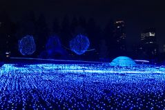 Winter Illuminations in Tokyo. Winter Illuminations light festival in Tokyo Midtown 2017, which is held as a memorial to the victims of the earthquake in 1995 in Royalty Free Stock Photos