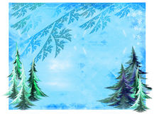 Winter illustration Royalty Free Stock Photography