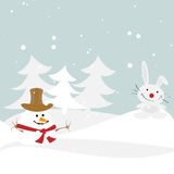 Winter illustration Stock Images