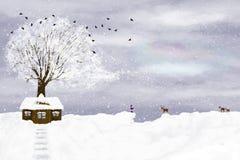 Winter illustration Royalty Free Stock Photos