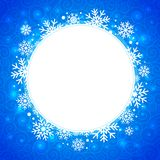 Winter illustration. round frame with snowflakes and highlights Stock Photos