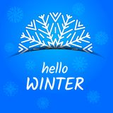 Hello winter card royalty free illustration