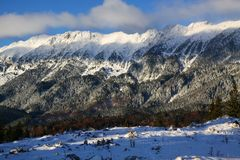 Winter im Berg Stockbilder