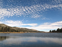 Winter im Big Bear See, Kalifornien Stockfoto