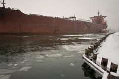 Winter im Kanal. Stockbilder