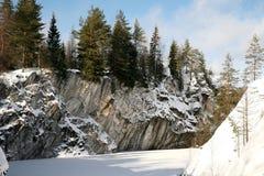 Winter im Marmorsnowy-Berg Lizenzfreie Stockfotos