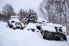 Winter im nordischen Land Lizenzfreies Stockfoto