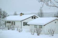 Winter im nordischen Land Stockfotos