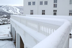 Winter im nordischen Land Stockfotografie