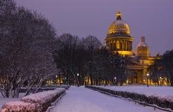 Winter im St Petersburg, Russland Stockbild