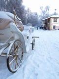 Winter im Stall stockbilder