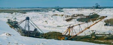 Winter im Steinbruch Lizenzfreie Stockfotografie