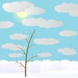 Winter im Wald. Lizenzfreies Stockfoto