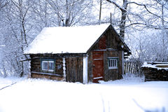 Winter In Rural Area Royalty Free Stock Photo