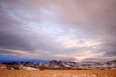 Winter In Rural Area Of Montana Royalty Free Stock Photo