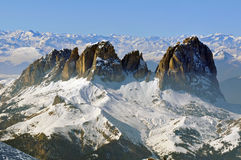 Winter In The Dolomites Royalty Free Stock Photos