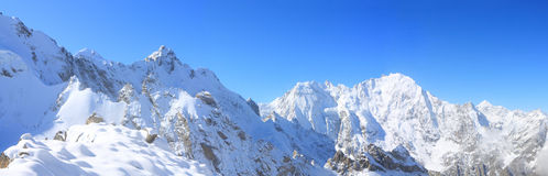 Winter In The High Mountains Royalty Free Stock Images